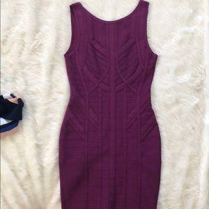 Plum Color Midi Dress